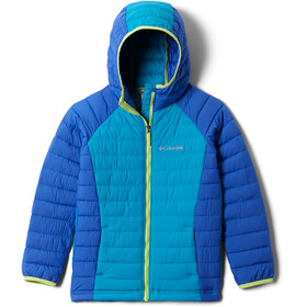 Columbia Powder Lite Hooded Jacket Girls lapis blue/fjord blue